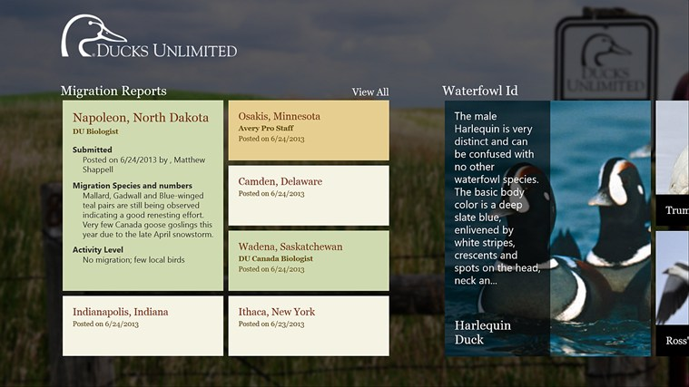 Ducks Unlimited screen shot 0