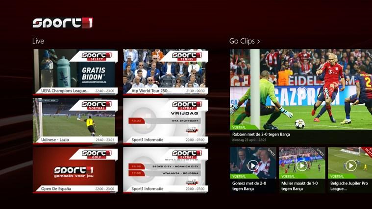 Sport1 schermafbeelding 0
