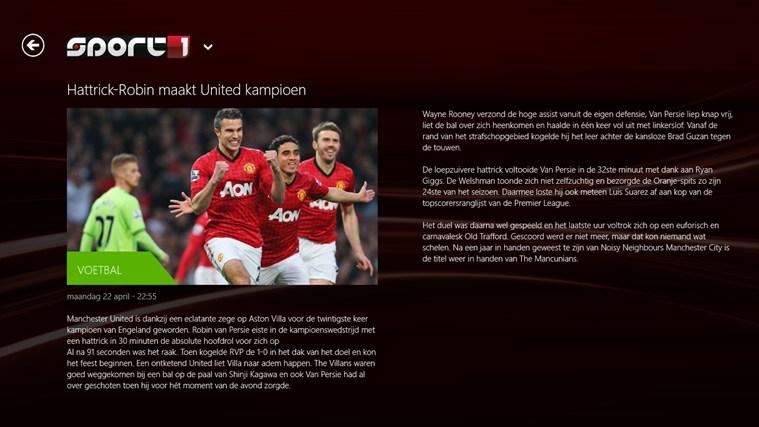 Sport1 schermafbeelding 2
