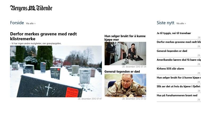 Bergens Tidende skjermbilde 0