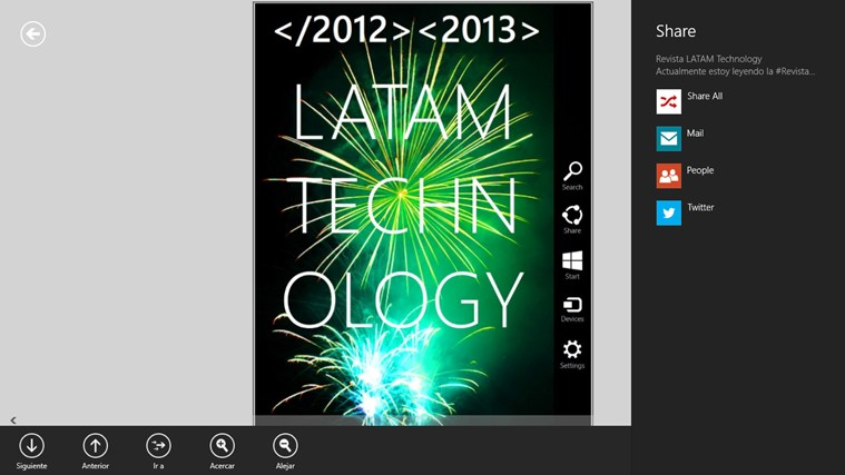 Revista LATAM Technology screen shot 2