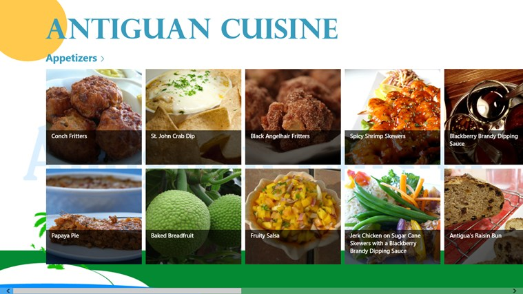 Antigua national food and nutrition security policy for Antiguan cuisine