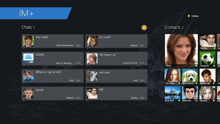 IM+ Instant Messenger screen shot 2