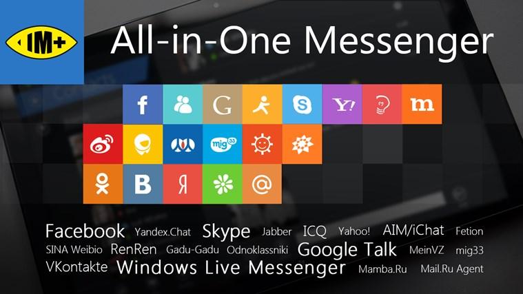 IM+ Messagerie Instantanée capture d'écran 0
