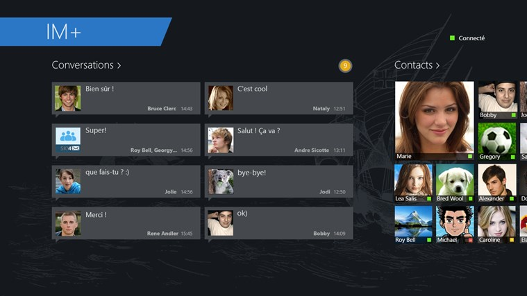 IM+ Messagerie Instantanée capture d'écran 2