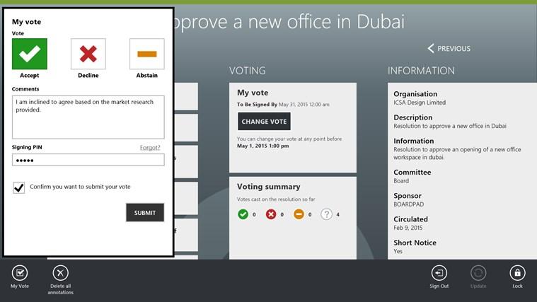 BoardPad screen shot 4