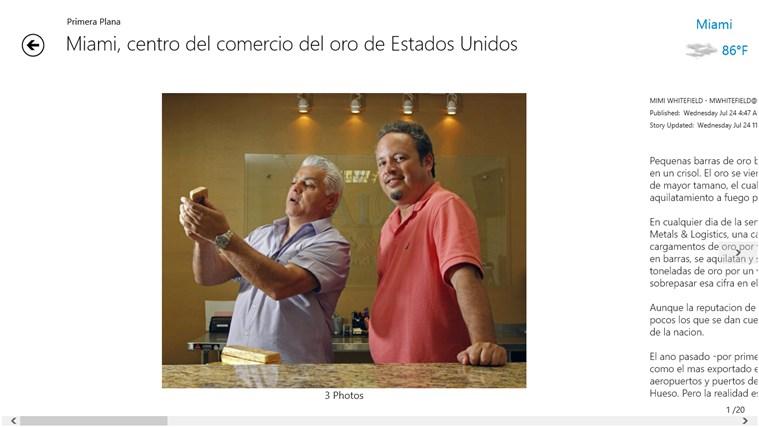 el Nuevo Herald screen shot 2