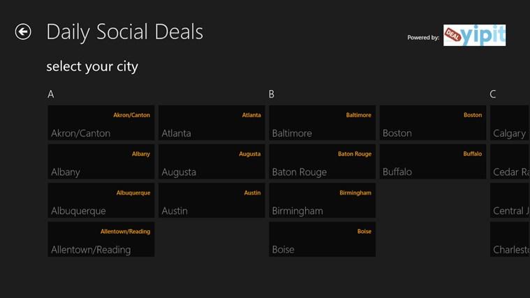 Daily Social Deals full screenshot