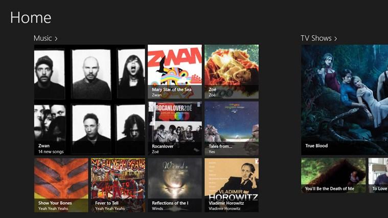 XBMC Boss for Win8 UI screenshot