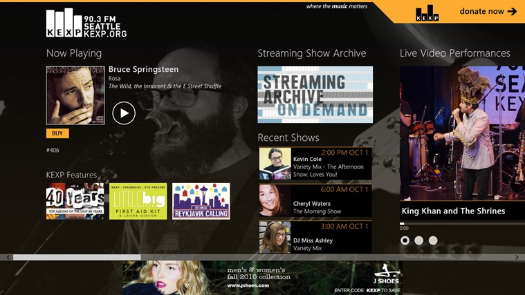 KEXP Artist Discovery screen shot 0
