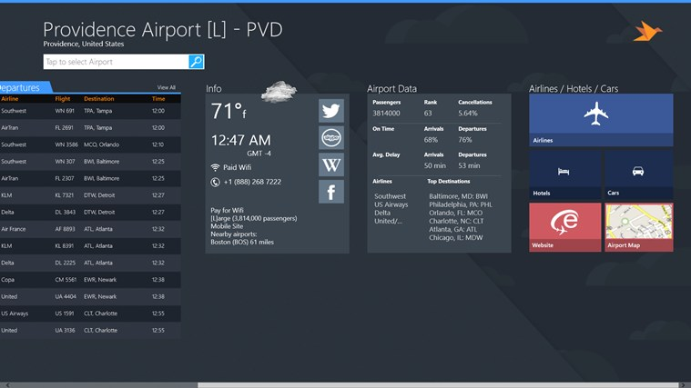 Providence Airport + Flight Tracker cattura di schermata 4