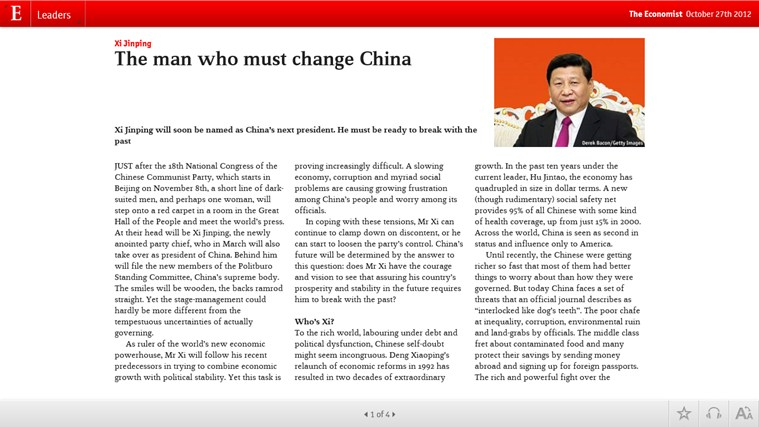 The Economist on Windows screen shot 2