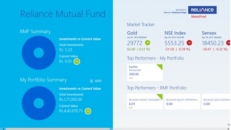 Reliance Mutual Fund i-screen shot 4