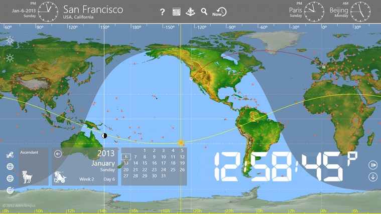 World Astro Clock full screenshot
