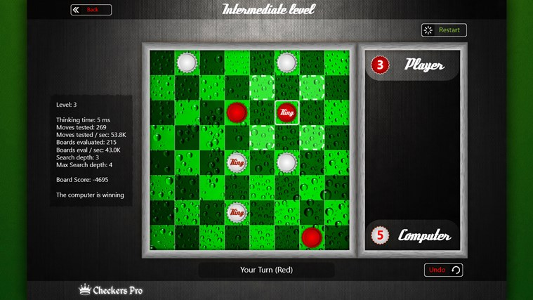 Draughts Pro screen shot 2