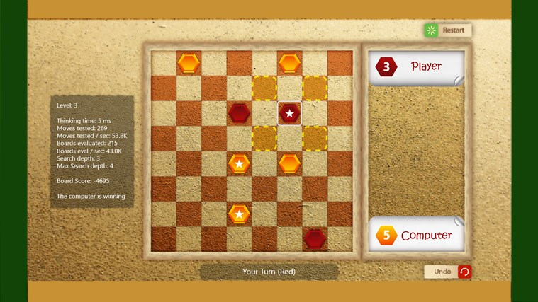 Draughts Pro screen shot 4