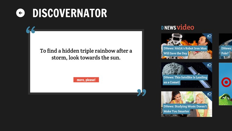 Discovery News screen shot 2