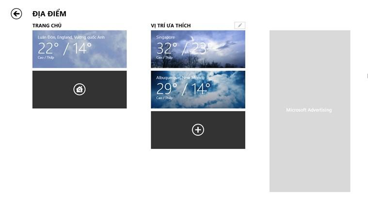Thời tiết trên MSN ảnh chụp màn hình 6