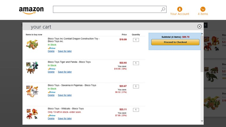 Amazon screen shot 2