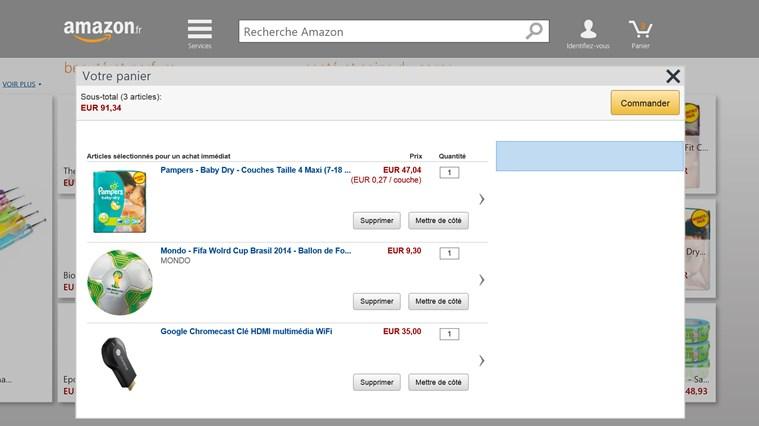 Amazon capture d'écran 2