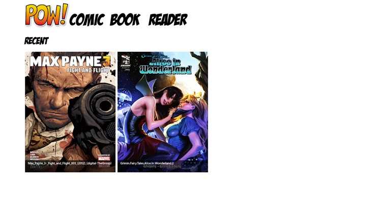 POW! Comic Book Reader screen shot 0