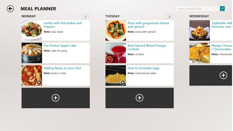 Bing Food & Drink screen shot 2