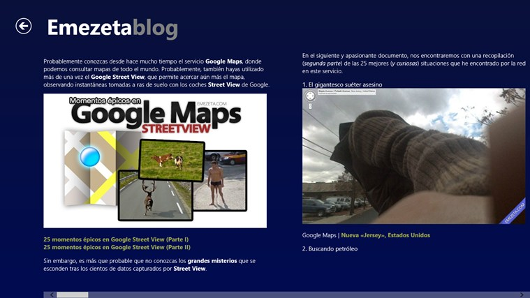 Emezeta Blog: снимок экрана 2