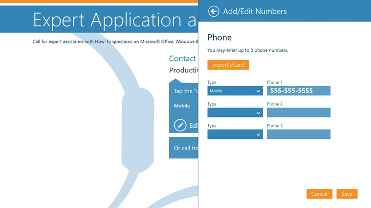 Vitalyst Windows 8 Help App screen shot 2