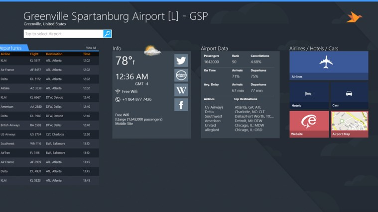 Greenville Spartanburg Airport + Flight Tracker screen shot 4