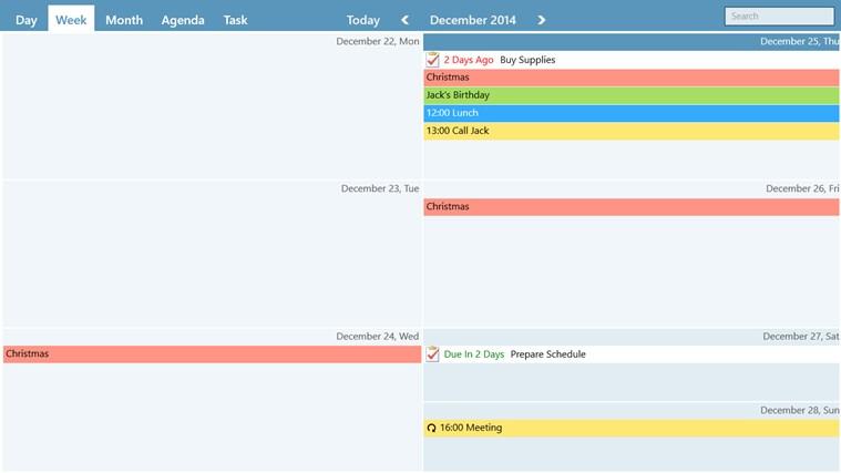 WinPIM Calendar screen shot 2
