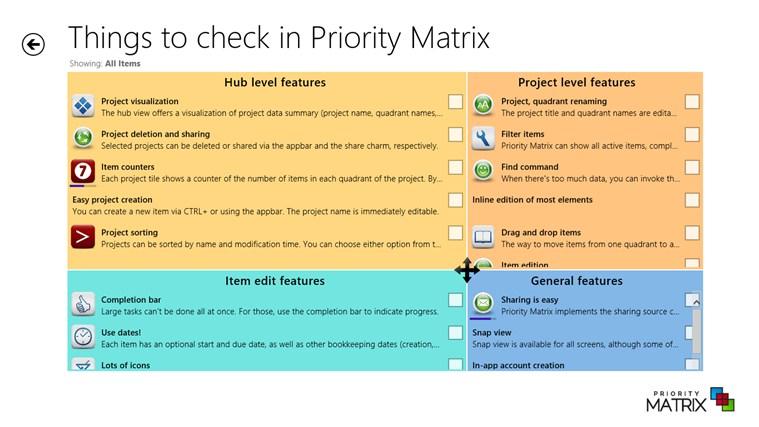 Priority Matrix full screenshot