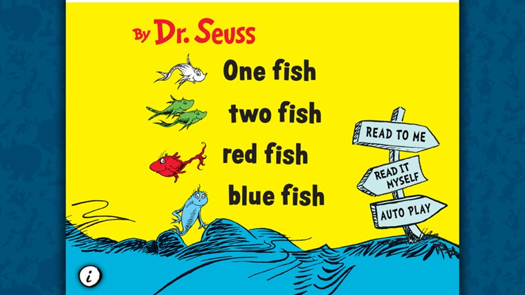 One Fish Two Fish Red Fish Blue Fish - Dr. Seuss screen shot 0