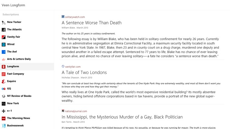 Veen Longform screen shot 0