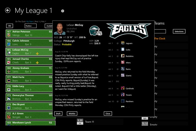 NFL Fantasy Football Cheat Sheet & Draft Kit 2014 screen shot 2