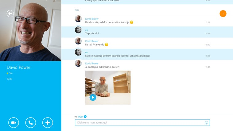 Skype captura de tela 2