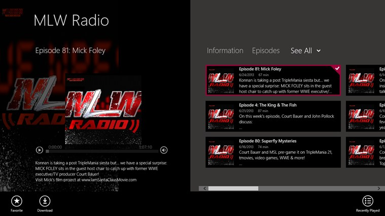 MLW Radio screen shot 0