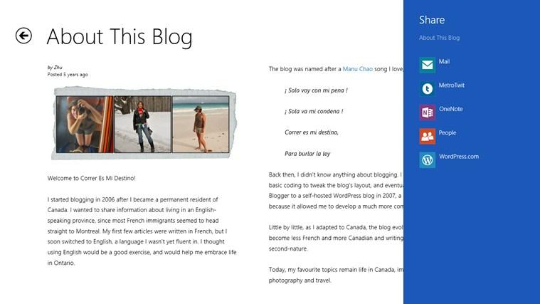 Correr Es Mi Destino - The Blog posnetek zaslona 4