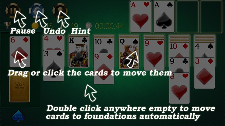 AE Solitaire screen shot 4