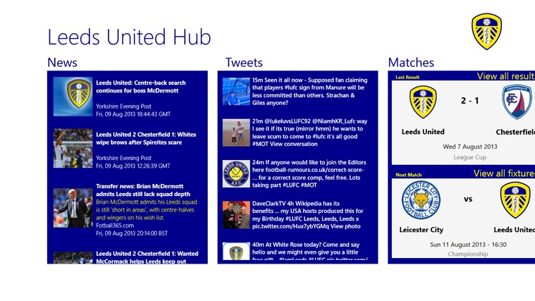 Leeds United Hub screen shot 0
