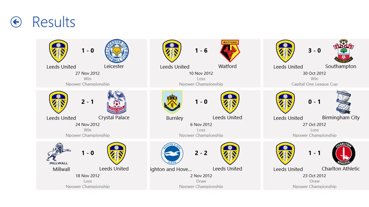Leeds United Hub screen shot 2