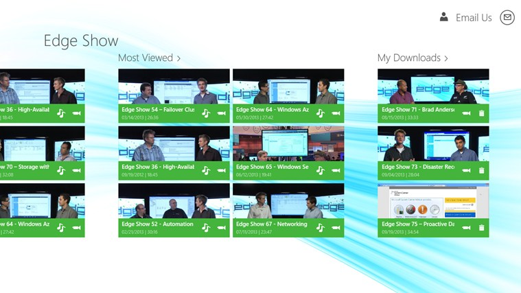 TechNet Edge Show screen shot 4