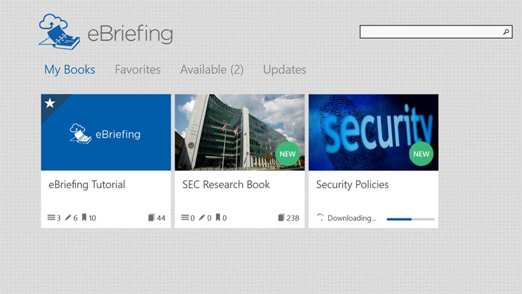 eBriefing screen shot 2