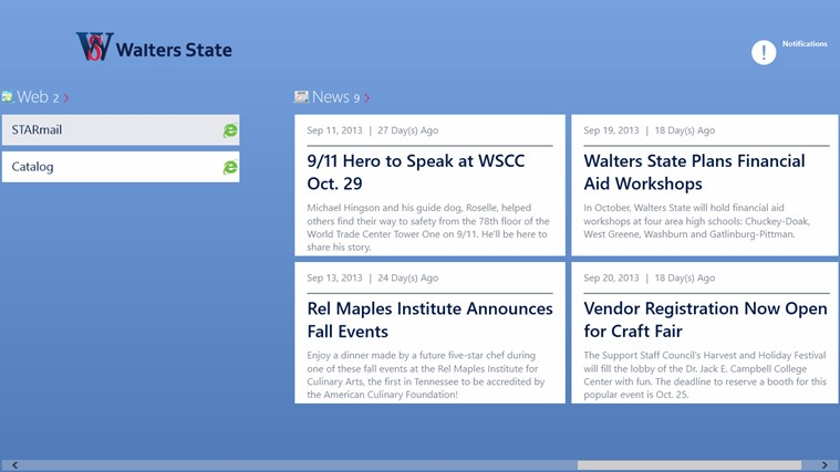 Walters State Community College screen shot 2