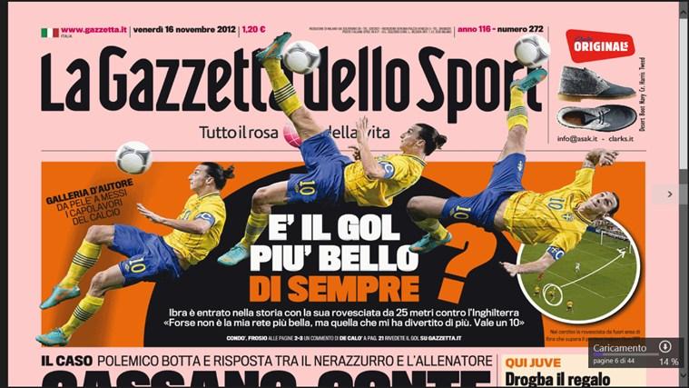 La Gazzetta dello Sport - Digital Edition cattura di schermata 0