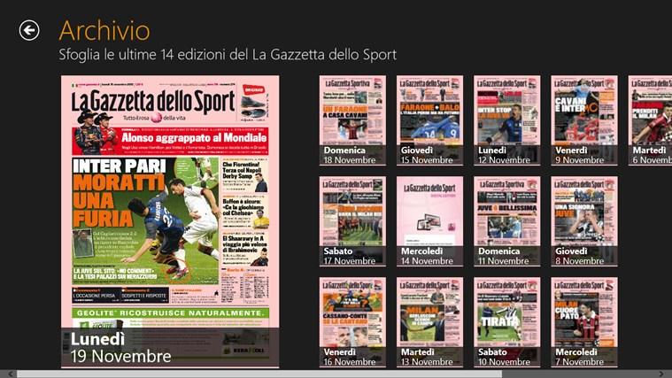 La Gazzetta dello Sport - Digital Edition cattura di schermata 2