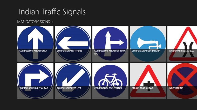driving signals in india pdf