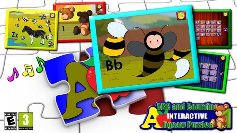 ABC Kids et comptage Jigsaw Puzzle jeu - apprendre les formes de numératie alphabet et nombres adapté aux tout-petits et enfants en âge scolaire pré capture d'écran 0