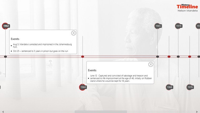 History Timeline: Mandela screen shot 2