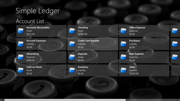 Simple Ledger screen shot 0