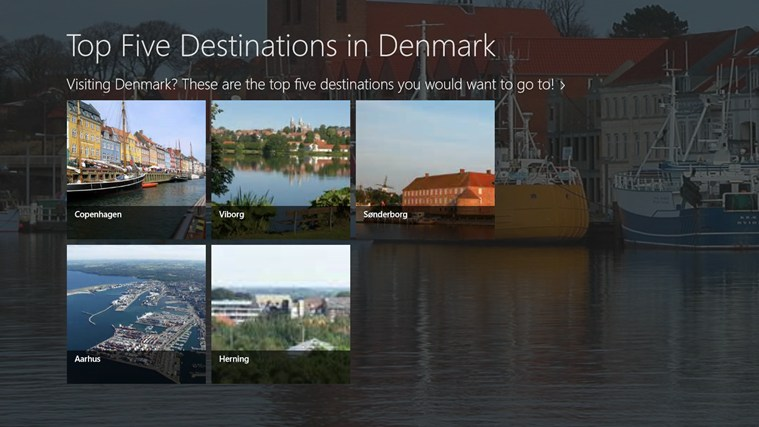 Top five destinations in Denmark